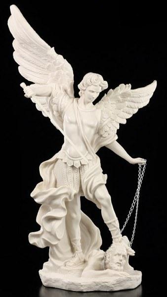 Erzengel Michael Statue weiß