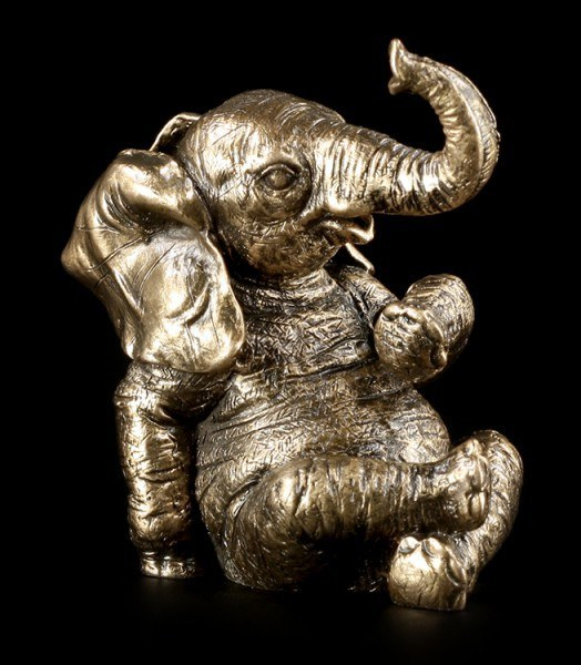 Elephant Figurine - Small Happy Elephant