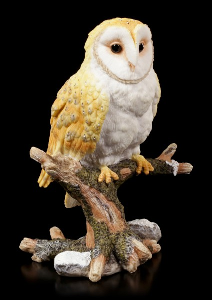 Barn Owl Figurine sitting on Branch