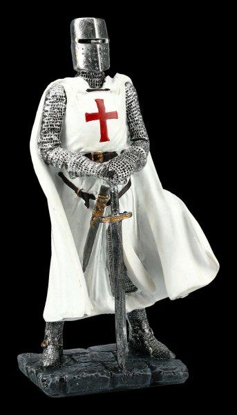 Ritter Figur - Kreuzritter mit weißem Umhang