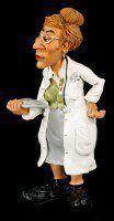 Woman Doctor - Funny Job Figurine