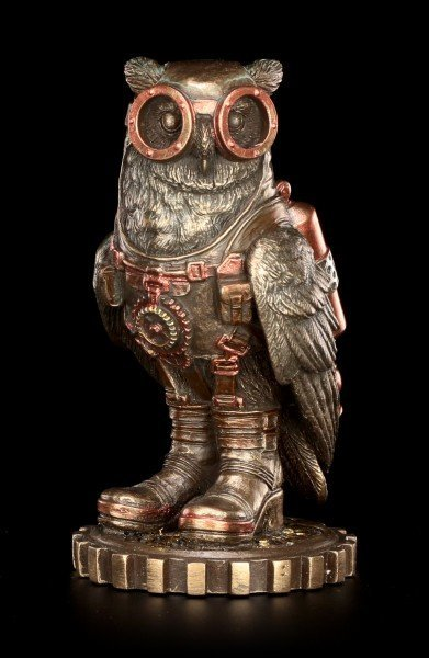 Steampunk Figurine - Retro Owl