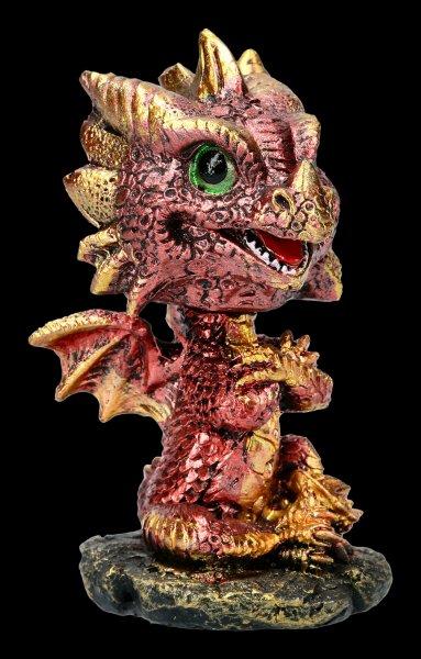 Bobble Head Figurine - Dragon Bobling - red