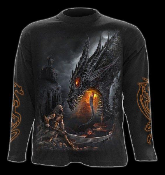 Langarmshirt mit Drache - Dragon Slayer