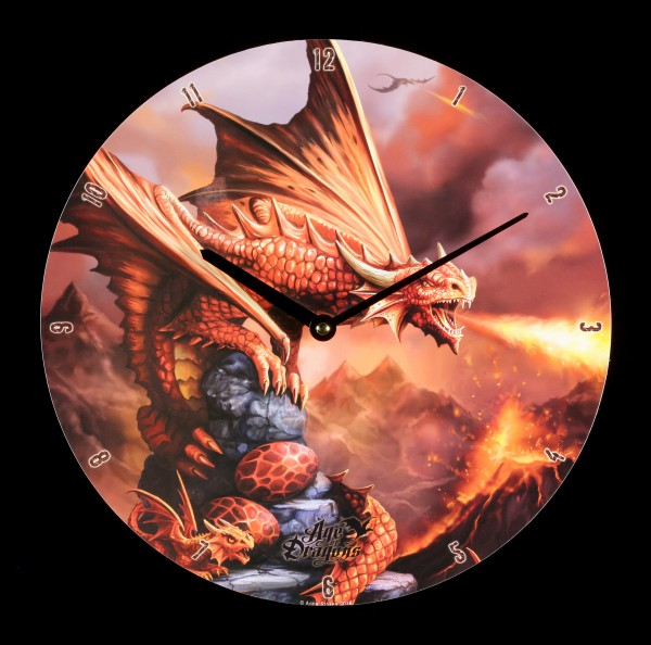 Wanduhr - Age of Dragons - Fire Dragon