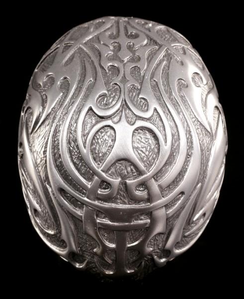 Totenkopf - Tribal Skull medium silber
