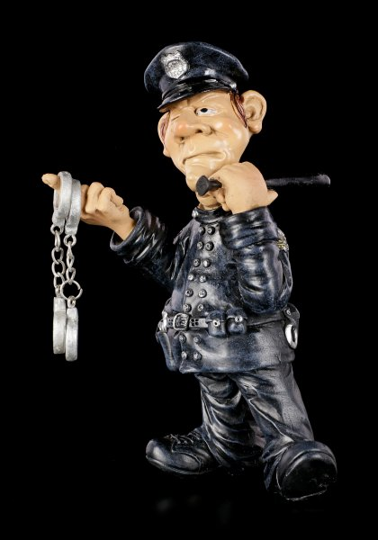 Funny Job Figur - Polizist mit Handschellen