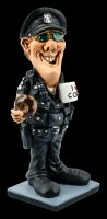 Funny Job Figurine - Police Officer with Donut