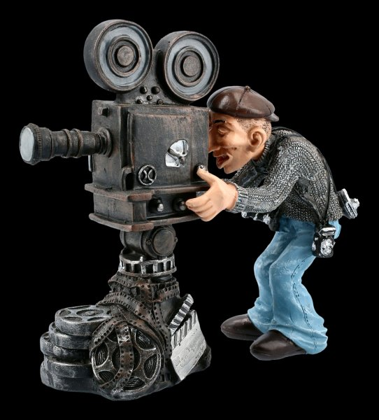 Funny Jobs Figurine - Cameraman with old Cine Camera