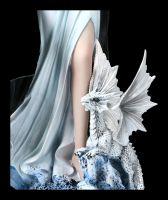 Elfen Figur - Winterkönigin mit Drache