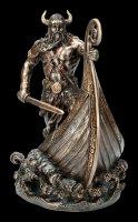 Wikinger Figur - Halvor mit gehörntem Helm