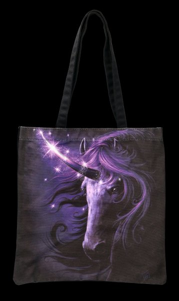 Tote Bag with Unicorn - Black Magic