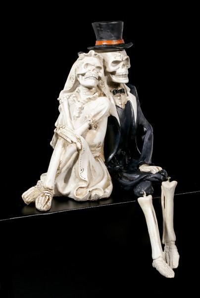 Skelett Kantenhocker - Love never Dies