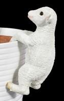 Garden Figurine Sheep - Flower Pot or Fence Pendant