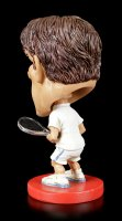 Funny Sports Figur - Wackelkopf Tennisspieler