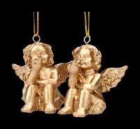 Engel Figuren als Christbaumschmuck 2er Set