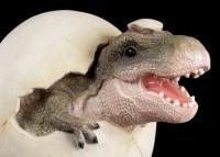 Gartenfigur Dinosaurier - Tyrannosaurus Rex schlüpft