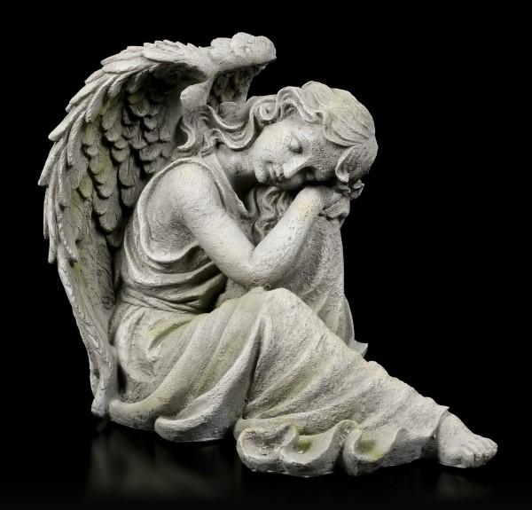 Engel Gartenfigur - Träumend