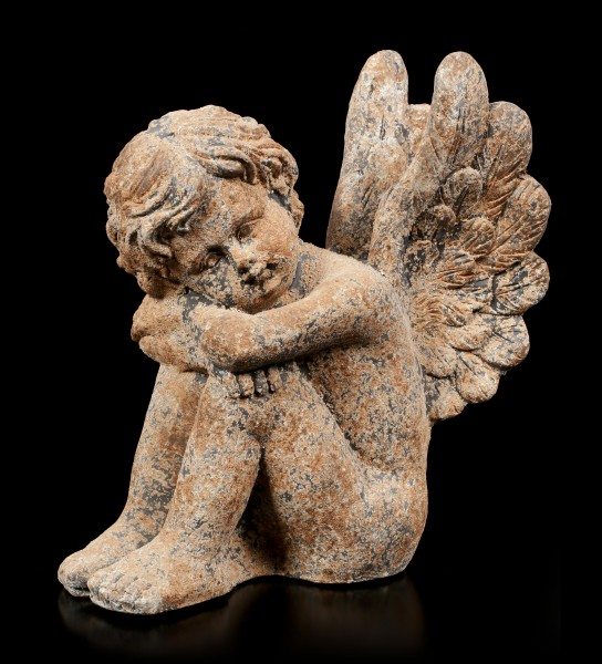 Angel Garden Figurine - Rust look left