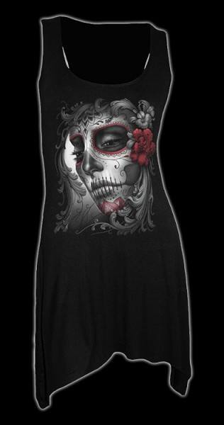Langshirt Gothic - Day of The Dead Doll