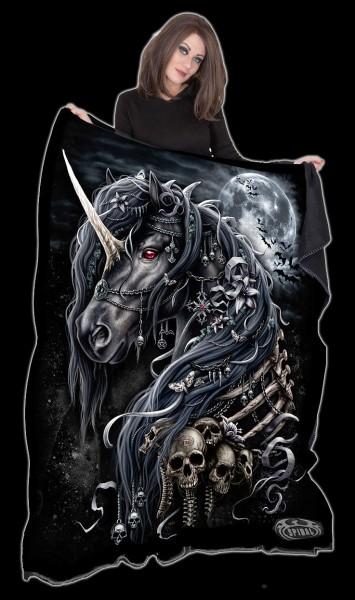 Fleecedecke Einhorn - Dark Unicorn