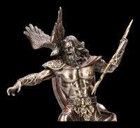 Zeus Figur mit Blitz und Adler
