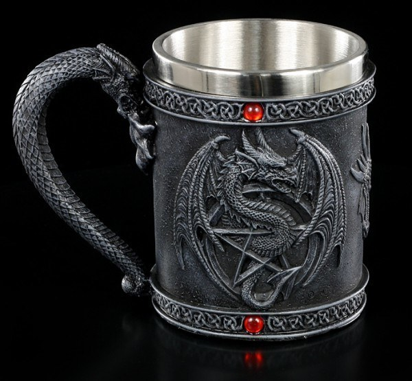 Tankard with Dragon and Pentagram