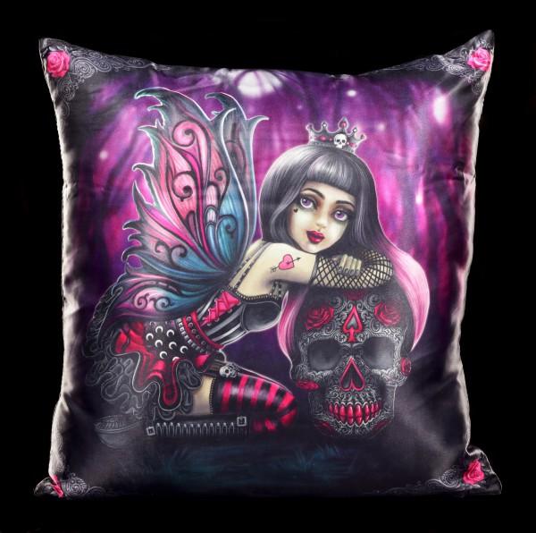 Kissen mit Gothic Elfe - Lolita