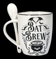 Tasse mit Löffel - Fledermaus Bat Brew
