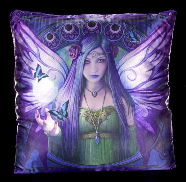 Großes Kissen mit Elfe - Mystic Aura