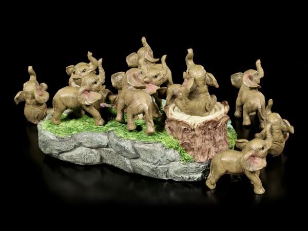 Elefanten Figuren mit Display - 12er Set