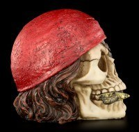 Skull - Pirate with red Headscarf