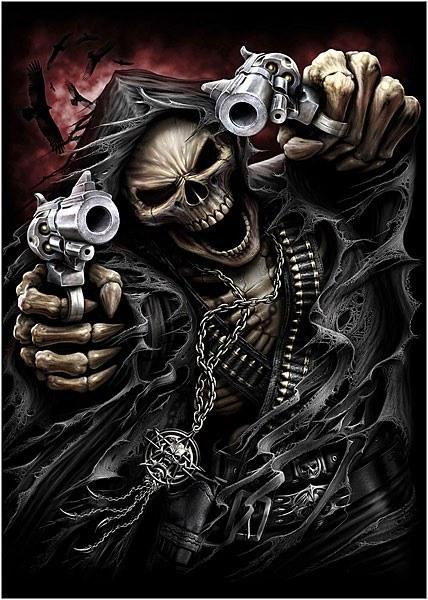 Spiral Gothic Reaper Poster - Assasin