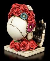 Skeleton Skull - Rose Head with Mobile