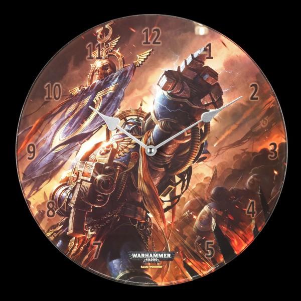 Glas Wanduhr Warhammer - Ultramarines