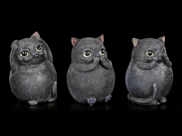 Drei Dicke Katzen Figuren - Nichts Böses