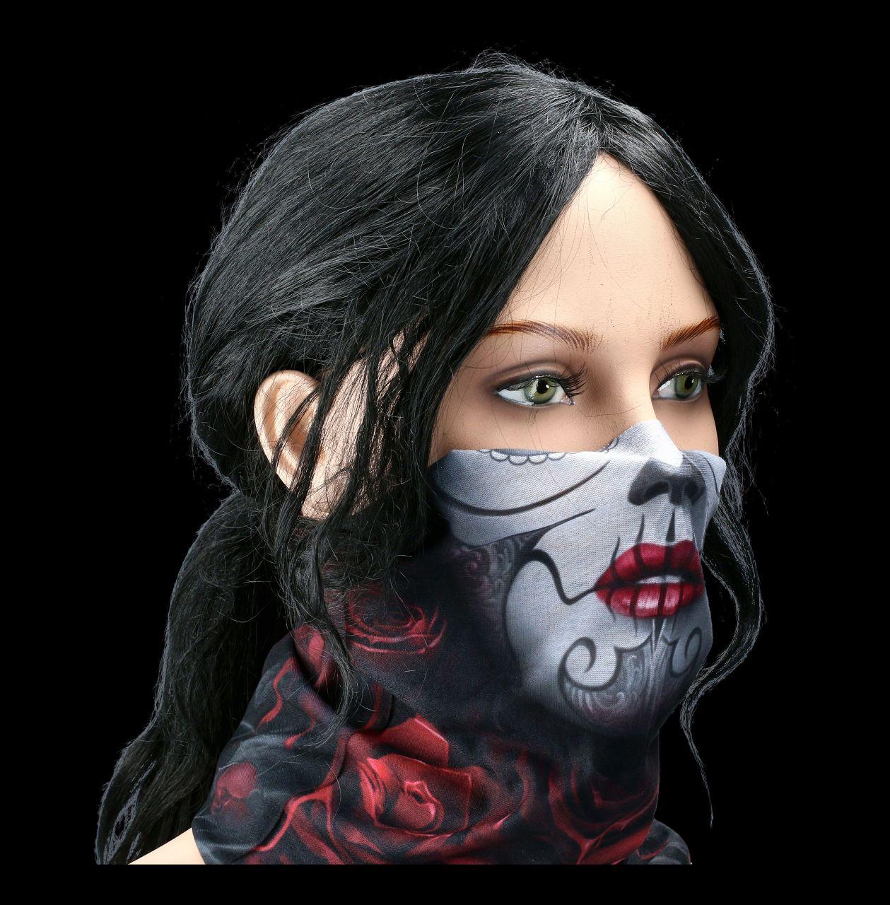 Multifunctional Face Wrap - Blood Rose