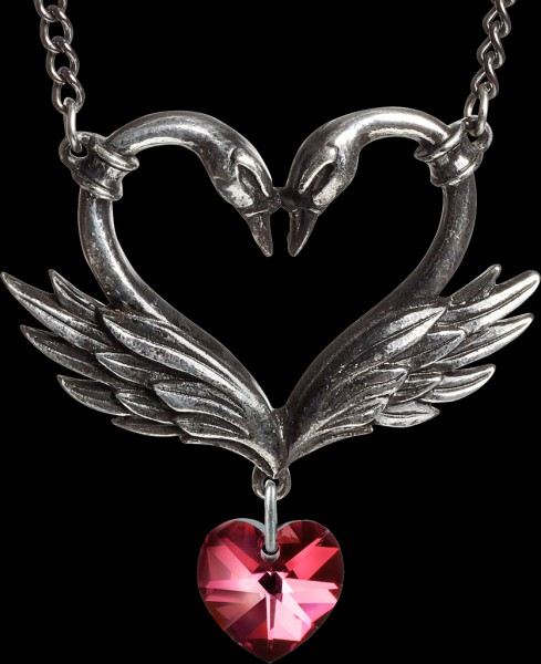 Alchemy Gothic Heart Necklace - The Black Swan Romance