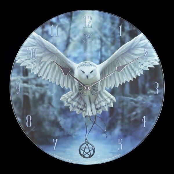 Glas Wanduhr mit Eule - Awaken your Magic