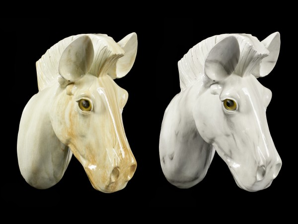 Pferdekopf Wandrelief - Spardose 2er Set