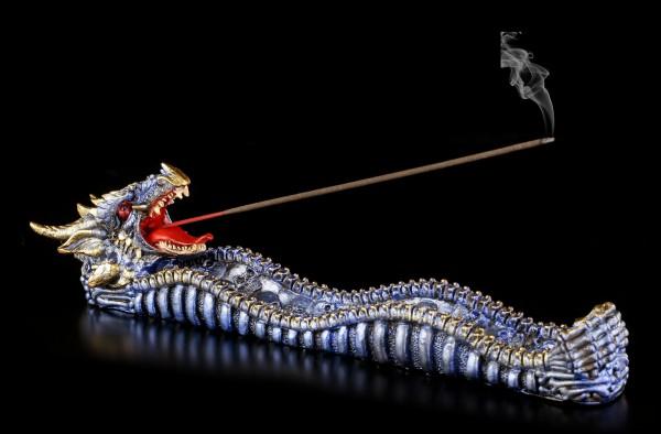 Räucherstäbchenhalter Drachen blau - Ashes of Cobalt