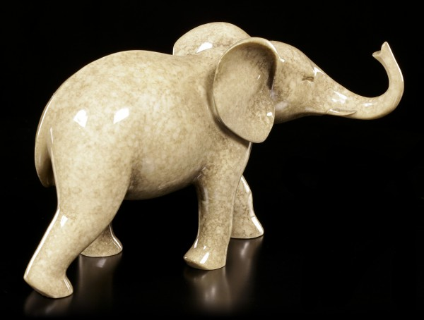 Elefanten Figur - Laufend Steinoptik
