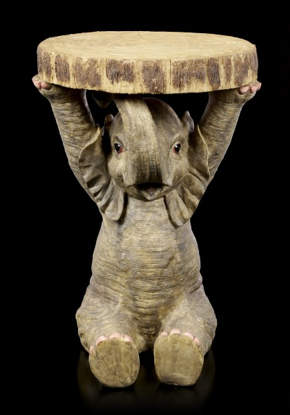 Elephant Side Table in Wooden Optic