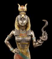 Hathor Figur - Ägyptische Göttin mit Kobra
