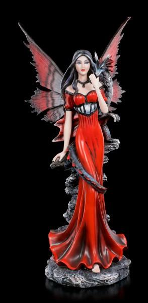 Elfen Figur - Garnet mit Drache auf Schulter
