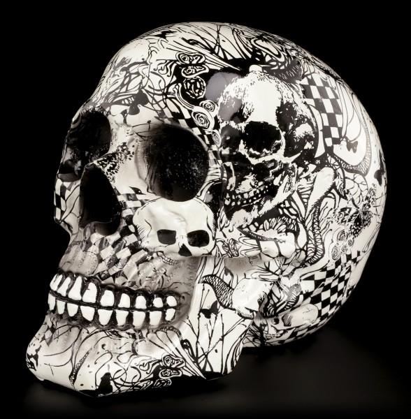 Bunter Totenkopf mit Verzierungen - Abstraction