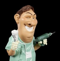 Funny Job Figurine - Dentist with Driller