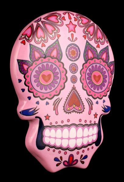 Magnet - Mexican Day of the Dead Skull - Pink