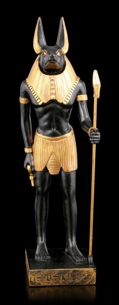 Anubis Figur stehend mit Stab
