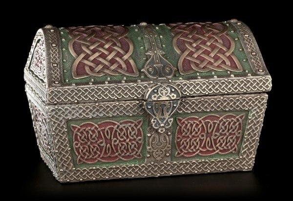 Celtic Treasure Chest Trinket Box